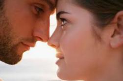lovers gazing